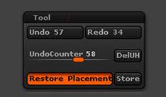 The Edit > Tool History sub-palette.