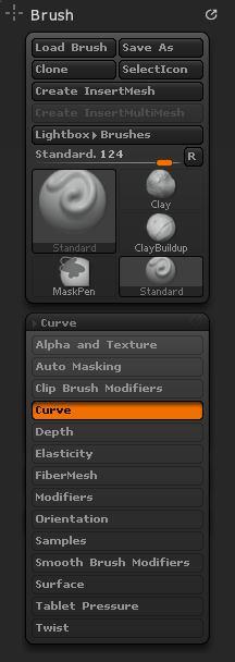 Sub-palette popup