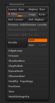 Tool>Geometry sub-palette