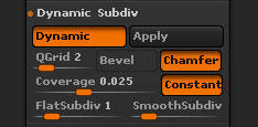 Dynamic Subdivision controls