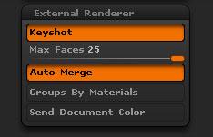 Render > External Renderer sub-palette