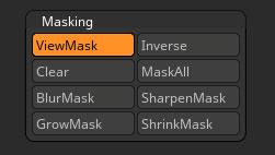 Masking sub-palette