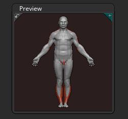 Preview sub-palette