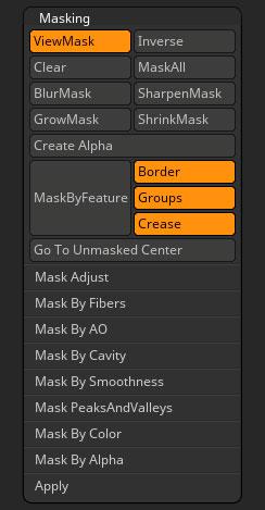 Masking | ZBrush Docs
