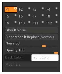 BPR Filter slots and settings
