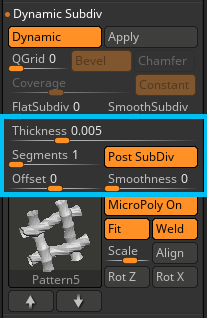 Dynamic Thickness
