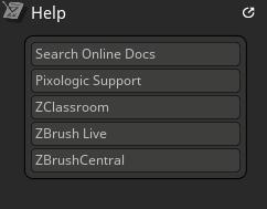 Core Help palette