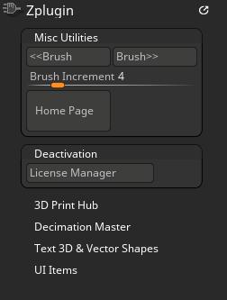 Core Zplugin palette