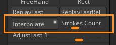 Stroke Interpolate palette